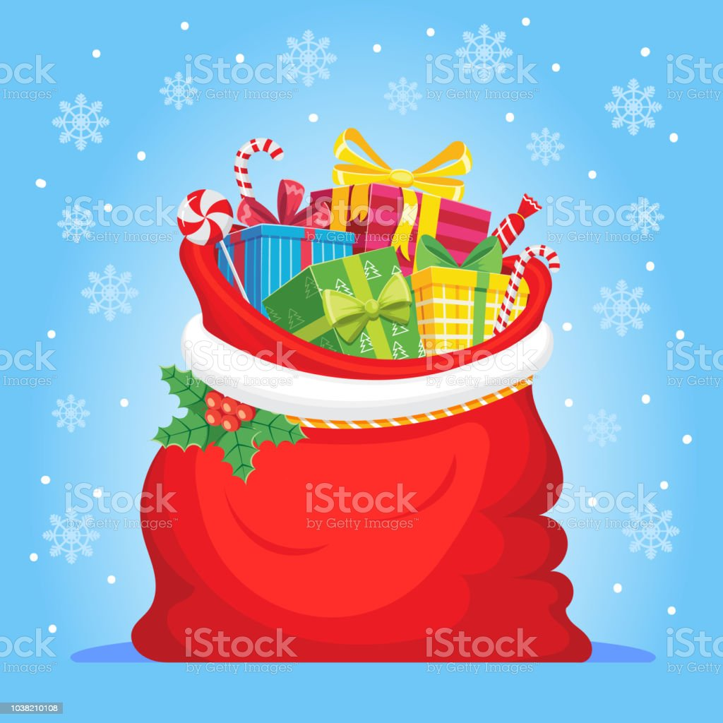 Weihnachtsgeschenke Sack.Santa Claus Geschenke In Der Tasche Weihnachtsgeschenke Sack Haufen
