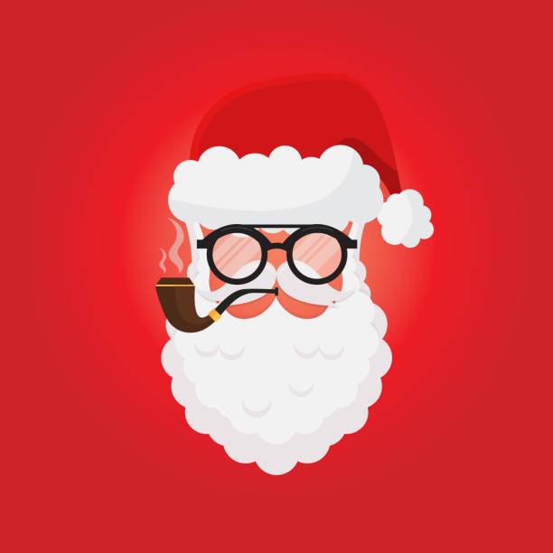 santa claus greeting card - secret santa messages stock illustrations