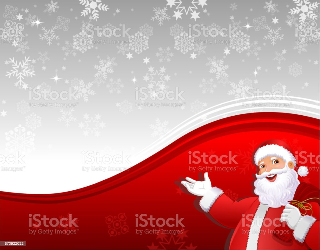 Santa Claus Greetings Merry Christmas And New Year stock vector art ...