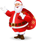 Santa Claus Greeting, Christmas, New year Wishes, Background, Floral, Snowflakes. Winter