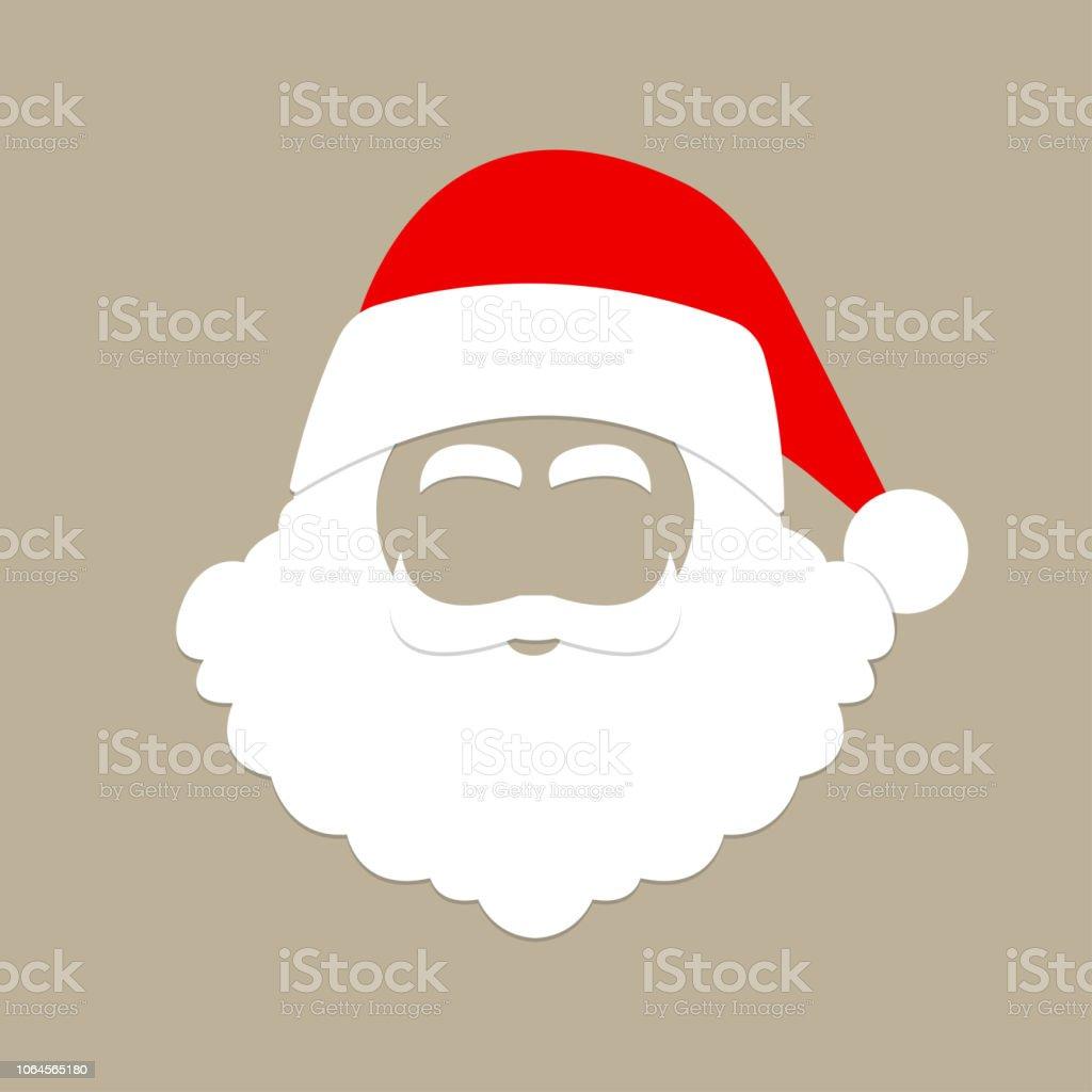 c6823635c99 Santa Claus hat and beard. Christmas mask. Vector illustration. royalty-free  santa