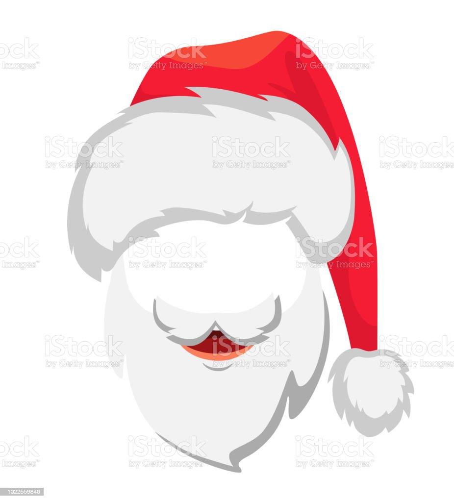 14455a33fd4 Santa Claus hat and beard. Santa Claus vector illustration royalty-free  santa claus hat