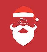 istock Santa Claus hat and beard- vector illustration 621930192