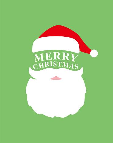 Santa claus head icon, vector illustration