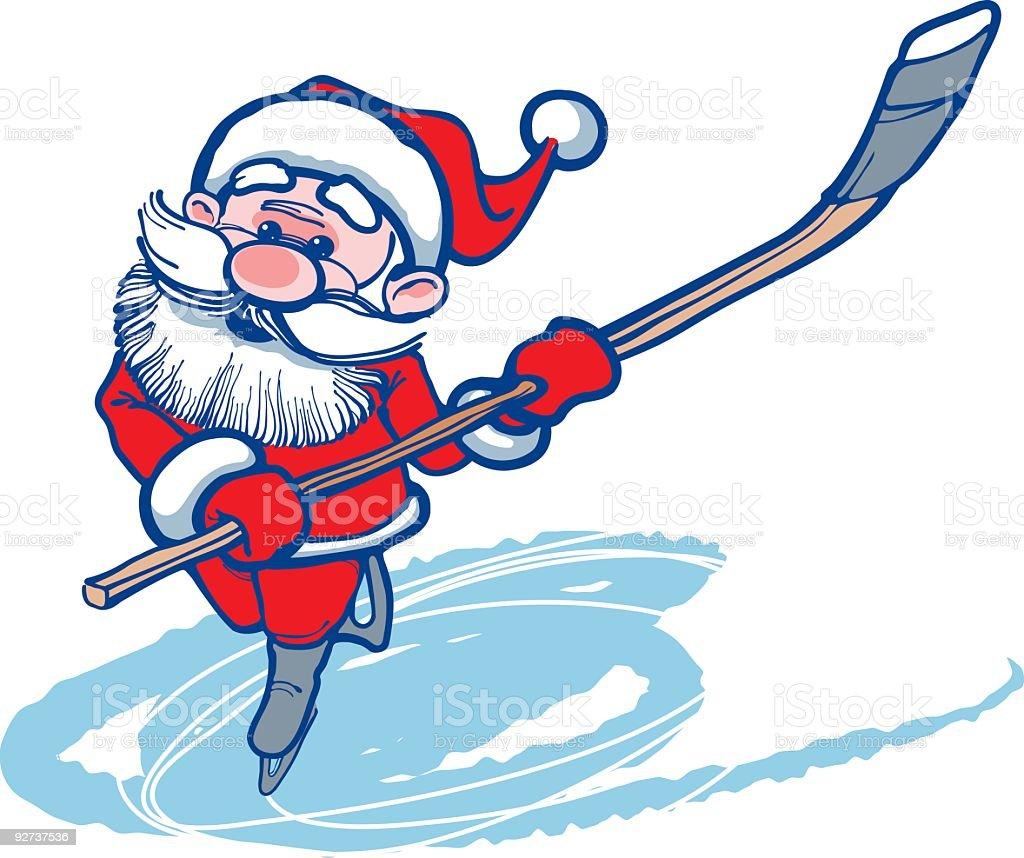 Santa Claus Hockey Player royalty-free santa claus hockey player stock vector art & more images of beard