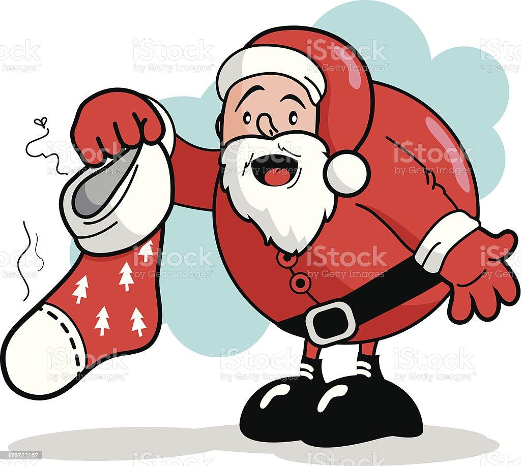 Befana E Babbo Natale.Babbo Natale Tenendo Un Sporco Calza Della Befana Immagini