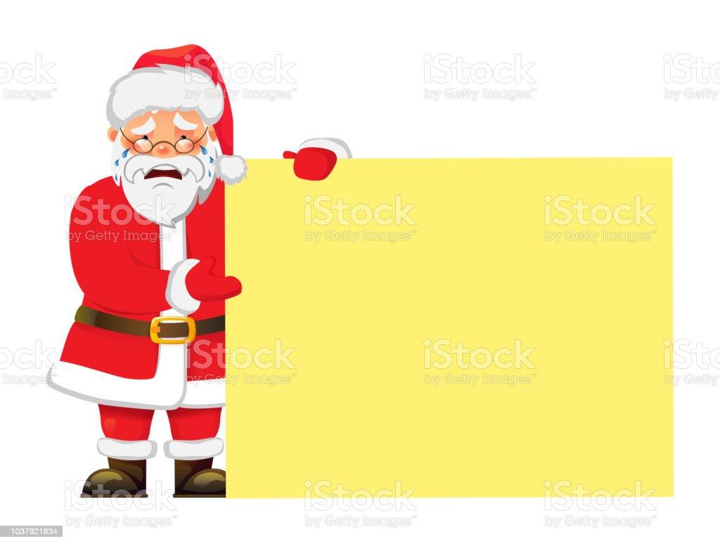 Santa Claus Holding Banner Santa Claus Mit ...