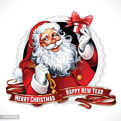 istock A Santa Claus image with Merry Christmas and happy new year 165925630