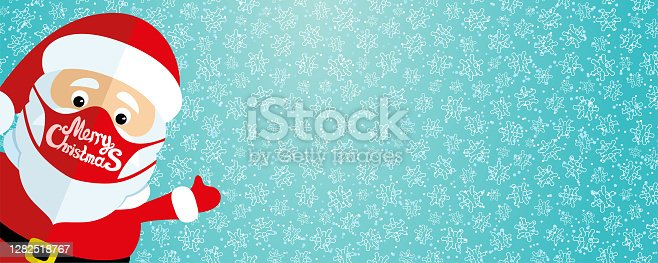 istock Santa Claus in a protective mask. 1282518767