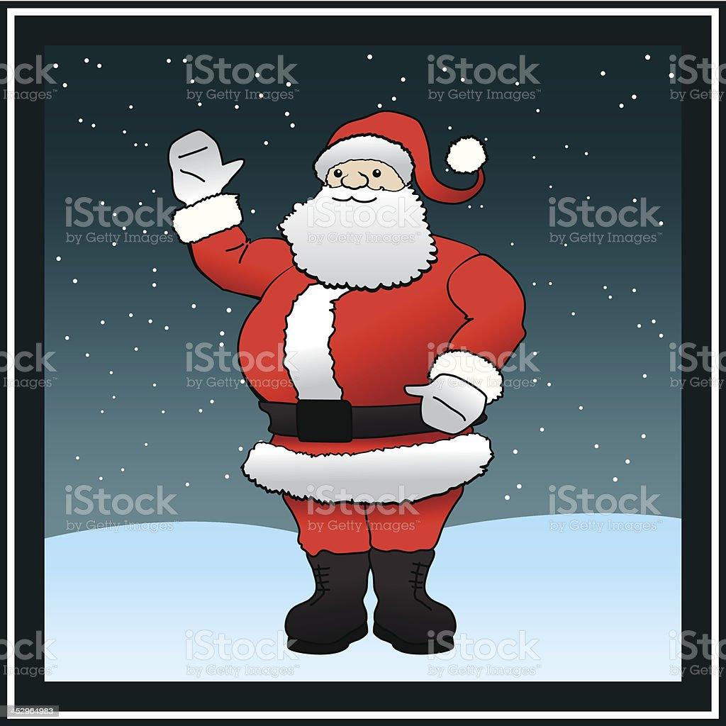 Santa Claus in Snow royalty-free stock vector art