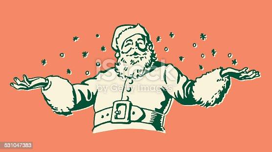 istock Santa Claus in Snow 531047383