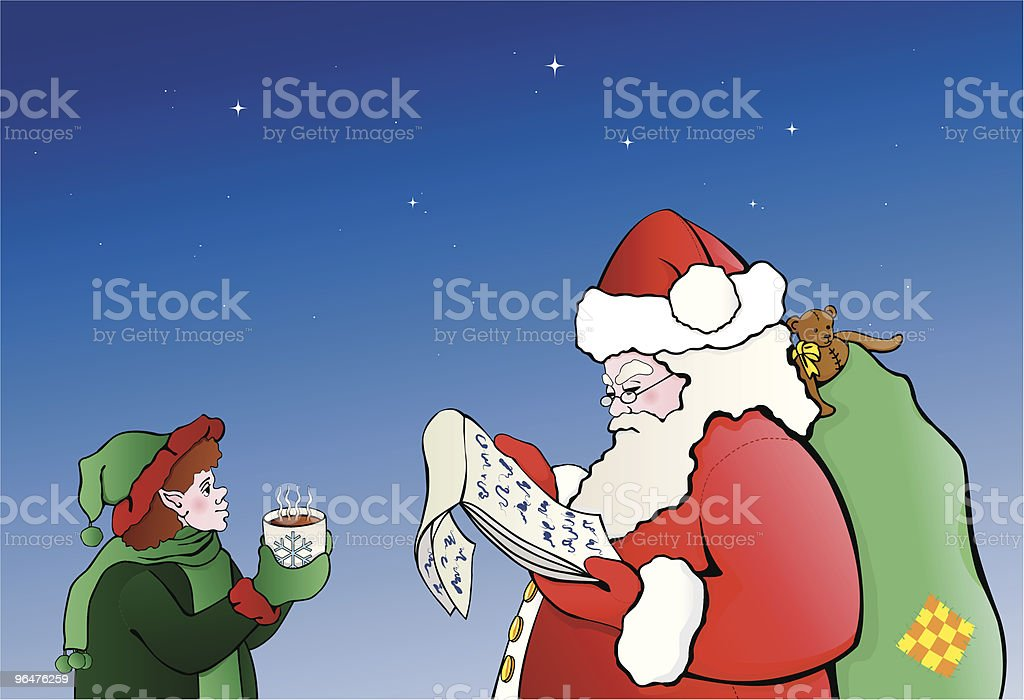 Santa Claus is Checking his list twice royalty-free santa claus is checking his list twice stock vector art & more images of beard