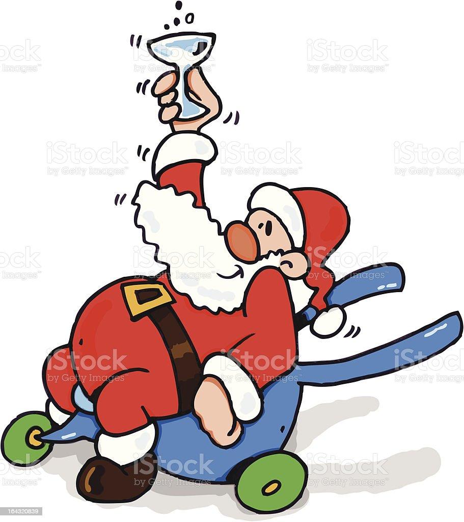 Santa Claus is drunk royalty-free stock vector art