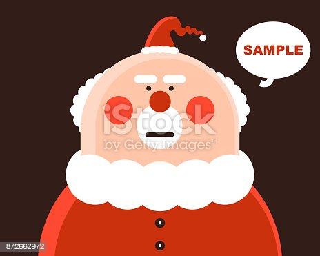istock Santa Claus is unhappy 872662972