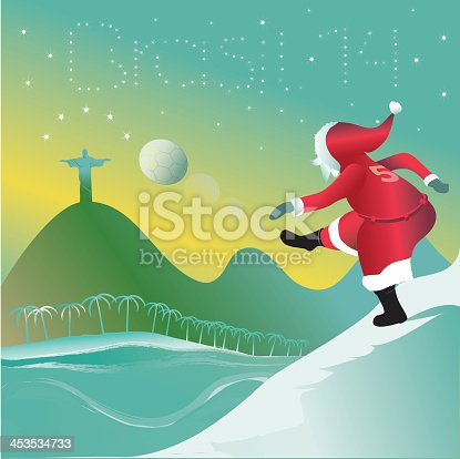 istock santa claus kicks off the new year 453534733