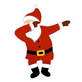 Santa claus making dab dance.