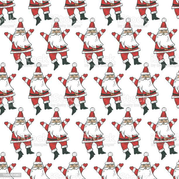 Santa Claus Old Fashioned Christmas Background Stock Illustration Download Image Now Istock