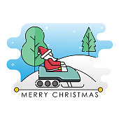 Santa Claus vector illustration isolated on white background. Christmas Santa Claus in trendy flat design style. Santa Claus vector icon modern and simple flat symbol for website, mobile, logo, app design. Vector EPS 10Santa Claus on a sleigh with deer vector illustration isolated on white background. Christmas Santa Claus in trendy flat design style. Santa Claus vector icon modern and simple flat symbol for website, mobile, logo, app design. Vector EPS 10