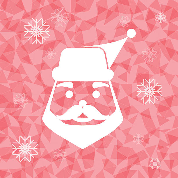 Santa claus on dazzled triangle background Santa claus on dazzled triangle background, stock vector dazzled stock illustrations
