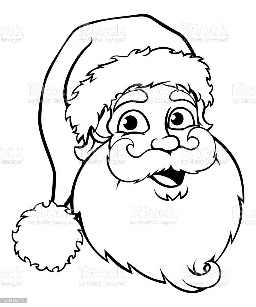 santa claus outline stock illustration  download image
