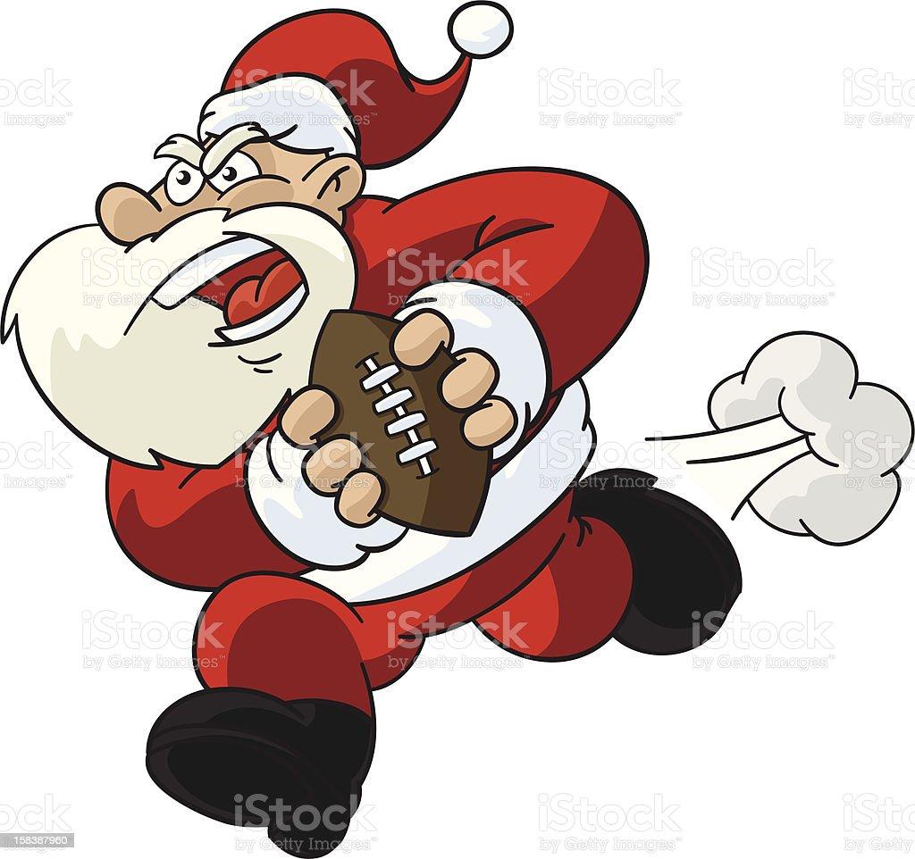 Santa claus playing football stock vector art more