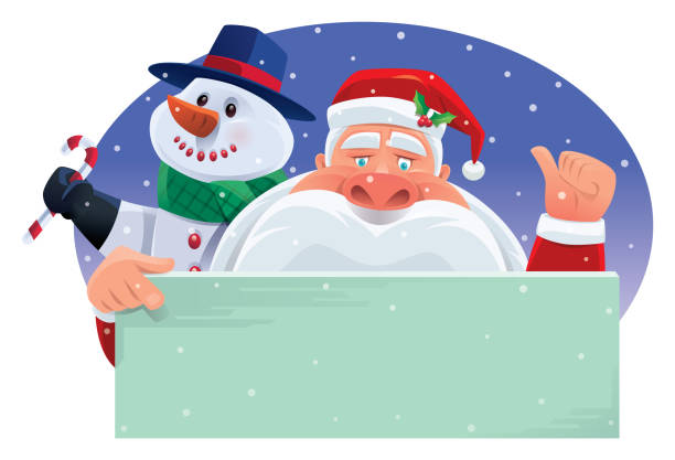 santa claus pointing and giving thumbs up sign - old man showing thumbs up cartoons stock illustrations, clip art, cartoons, & icons