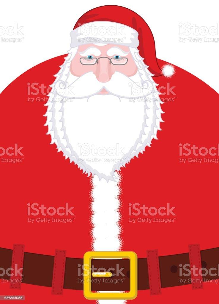 a4f207182b765 Retrato de Santa Claus. Navidad abuelo con barba blanca y gorro rojo y  correa.