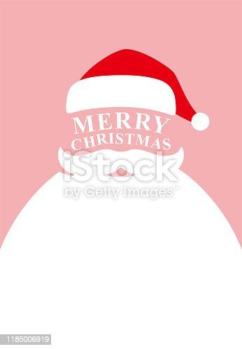 istock Santa claus poster, vector illustration 1185006919
