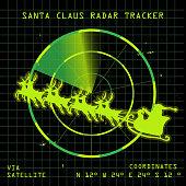 Vector illustration of a Santa Claus Radar design.