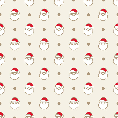 Santa Claus Red Seamless Pattern stock illustration