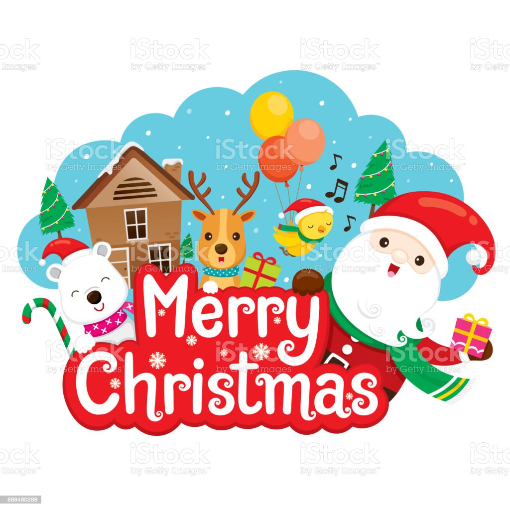santa claus reindeer and friend on merry christmas banner stock illustration download image now istock santa claus reindeer and friend on merry christmas banner stock illustration download image now istock