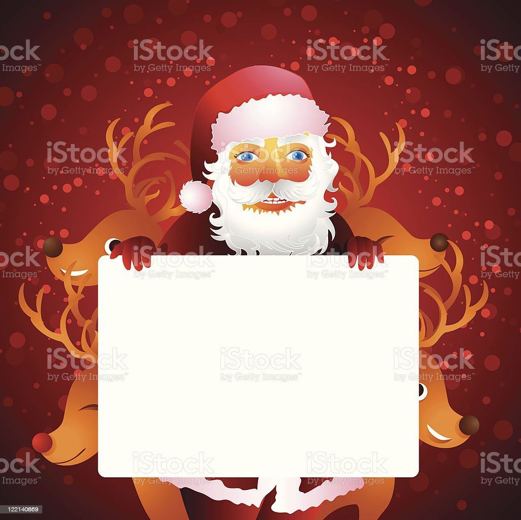 Santa Claus Reindeers Christmas Holiday Banner Vector Illustration royalty-free santa claus reindeers christmas holiday banner vector illustration stock vector art & more images of banner - sign