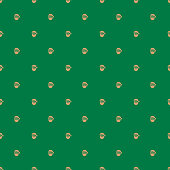 Seamless pattern with Santa Claus, vector illustration. EPS 10.