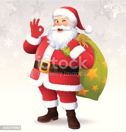 istock Santa Claus Showing OK 455318563