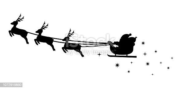 santa claus silhouette illustration