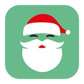 Santa Claus face flat icon design vector illustration