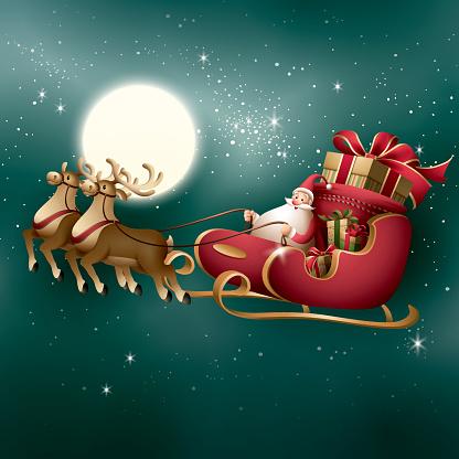 Santa Claus - sleigh ride