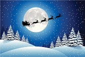 Illustration of Santa's sleigh. Hi-res jpg included (5400x3603px) and EPS-8 file.