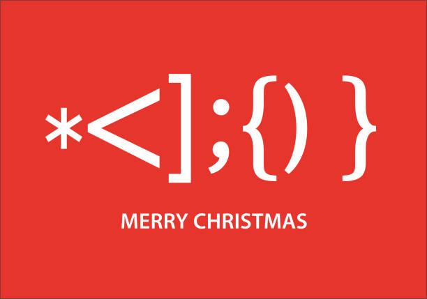 illustrazioni stock, clip art, cartoni animati e icone di tendenza di santa claus smiley christmas card, vector - natale concept