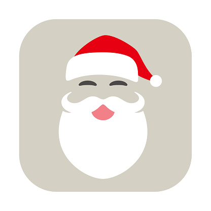 Santa Claus smiling icon, vector illustration