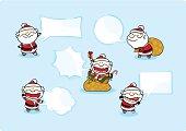Santa Claus speaking