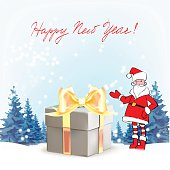 Santa Claus. Template greeting card Father Christma
