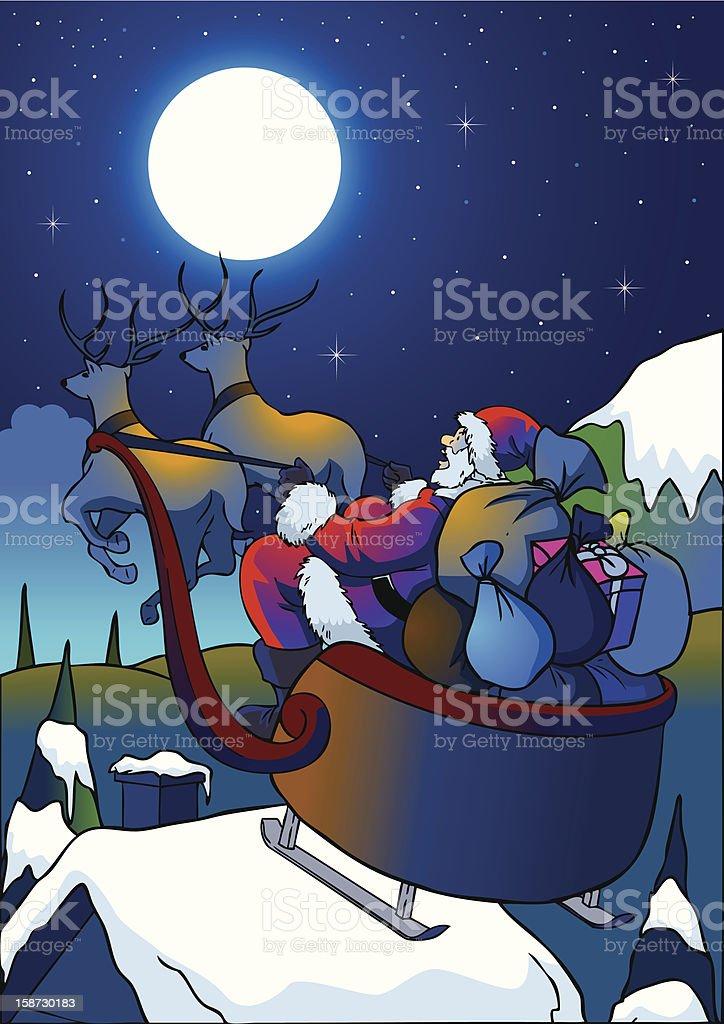 Santa Claus royalty-free santa claus stock vector art & more images of beauty in nature