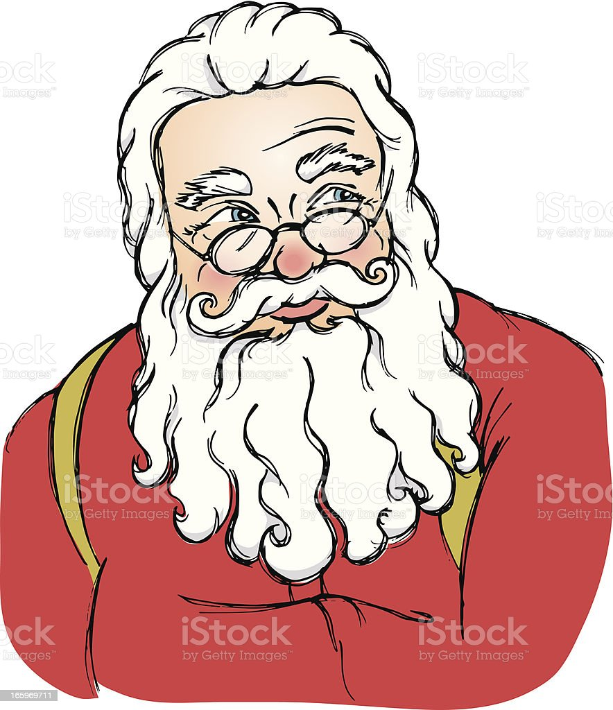 Santa Claus royalty-free santa claus stock vector art & more images of abdomen