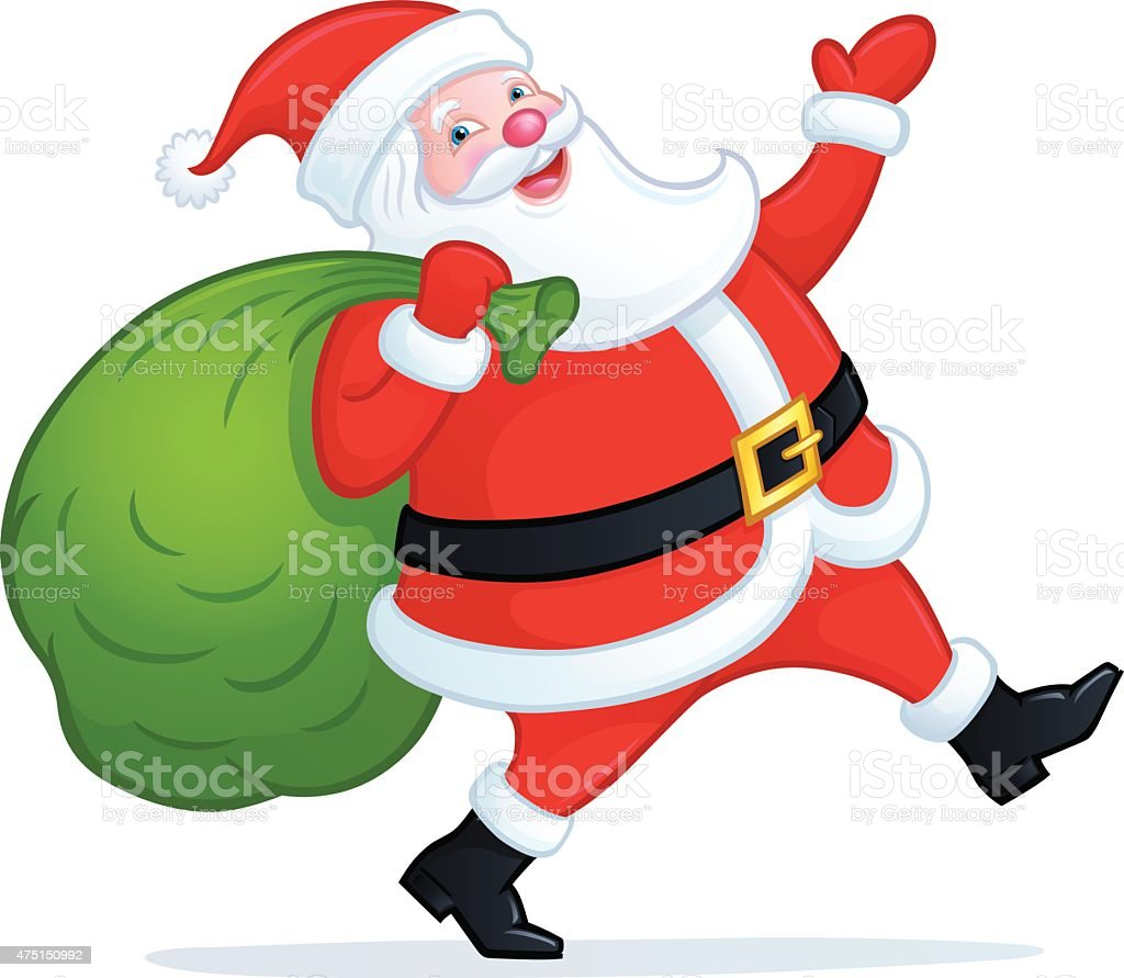 santa claus walking with bag of presents royalty free santa claus walking with bag of - Santa Claus With Presents