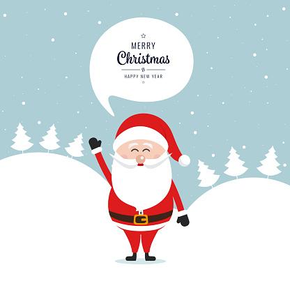santa claus welle frohe weihnachten rede blase schnee. Black Bedroom Furniture Sets. Home Design Ideas