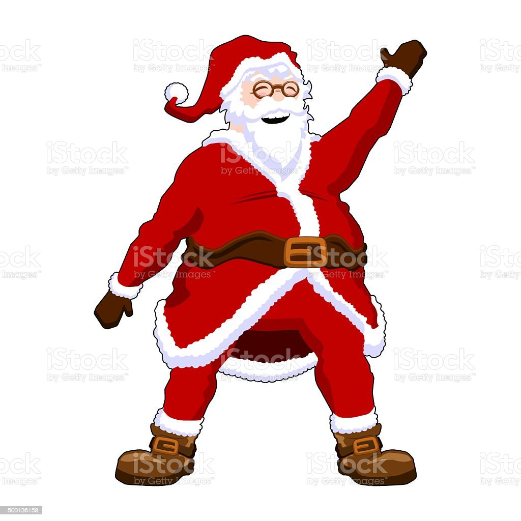 Santa Claus Waving vector art illustration