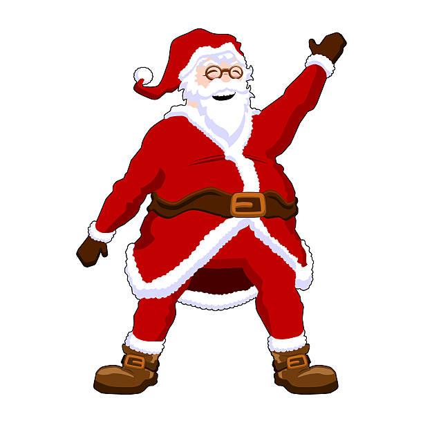 Santa Claus Waving vector art illustration