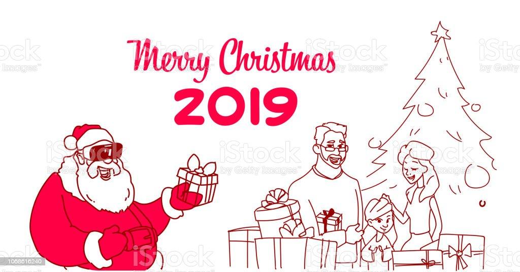Kinder Geschenke Weihnachten 2019.Santa Claus Verschleiß Digitale Brille Virtualreality Präsentieren