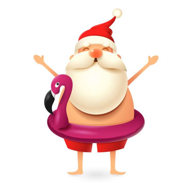 Best Santa Swim Illustrations, Royalty-Free Vector ... (612 x 612 Pixel)